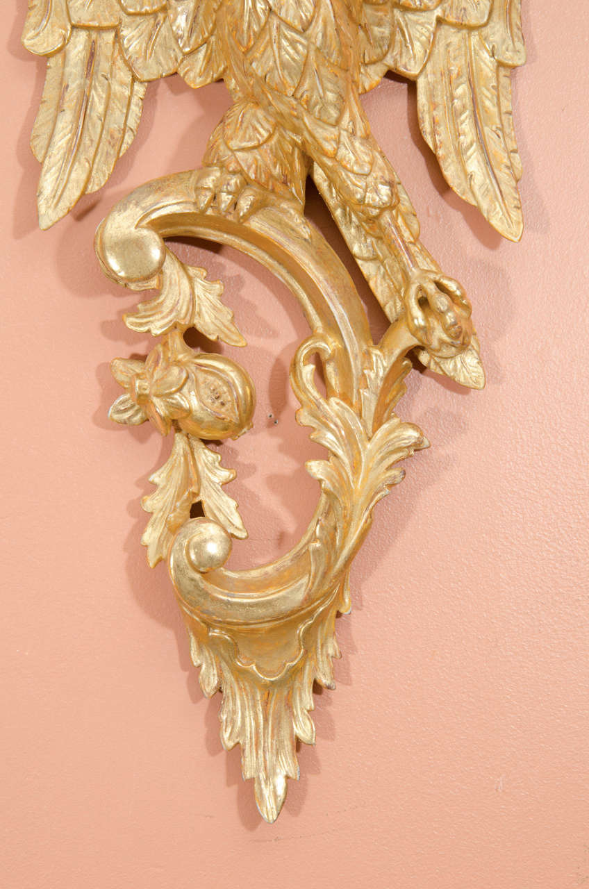 Pair of Rococo Giltwood Phoenix Brackets In Excellent Condition For Sale In New York, NY
