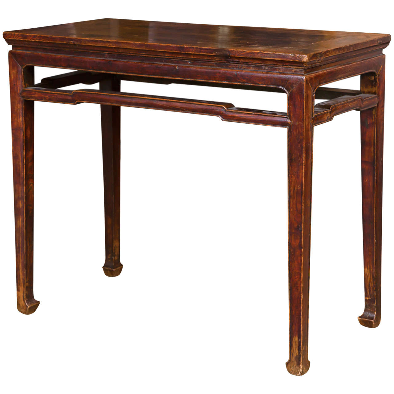 Chinese elmwood console table for sale at stdibs
