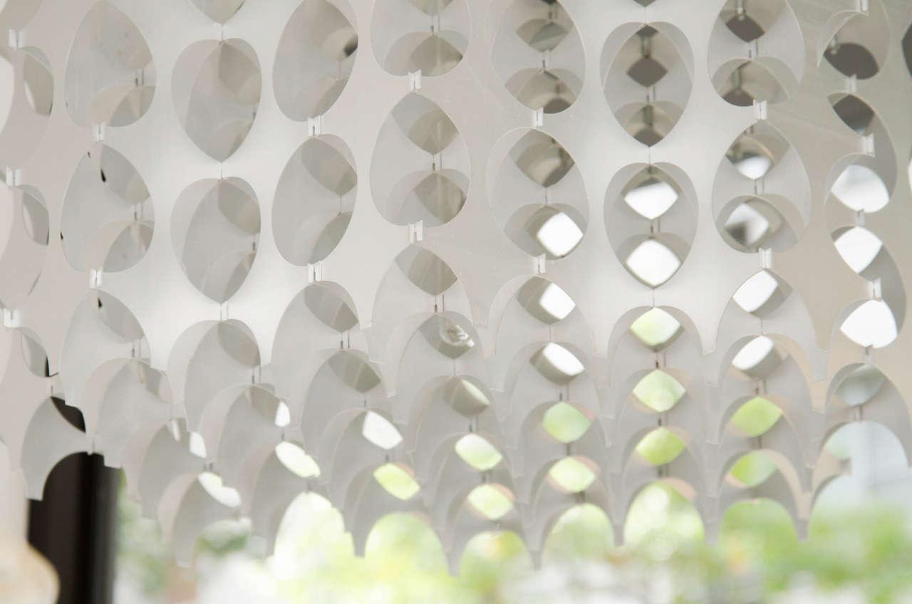 Mid-20th Century Geometric Pierced Aluminum Pendants by Mario Marenco for Artemide For Sale