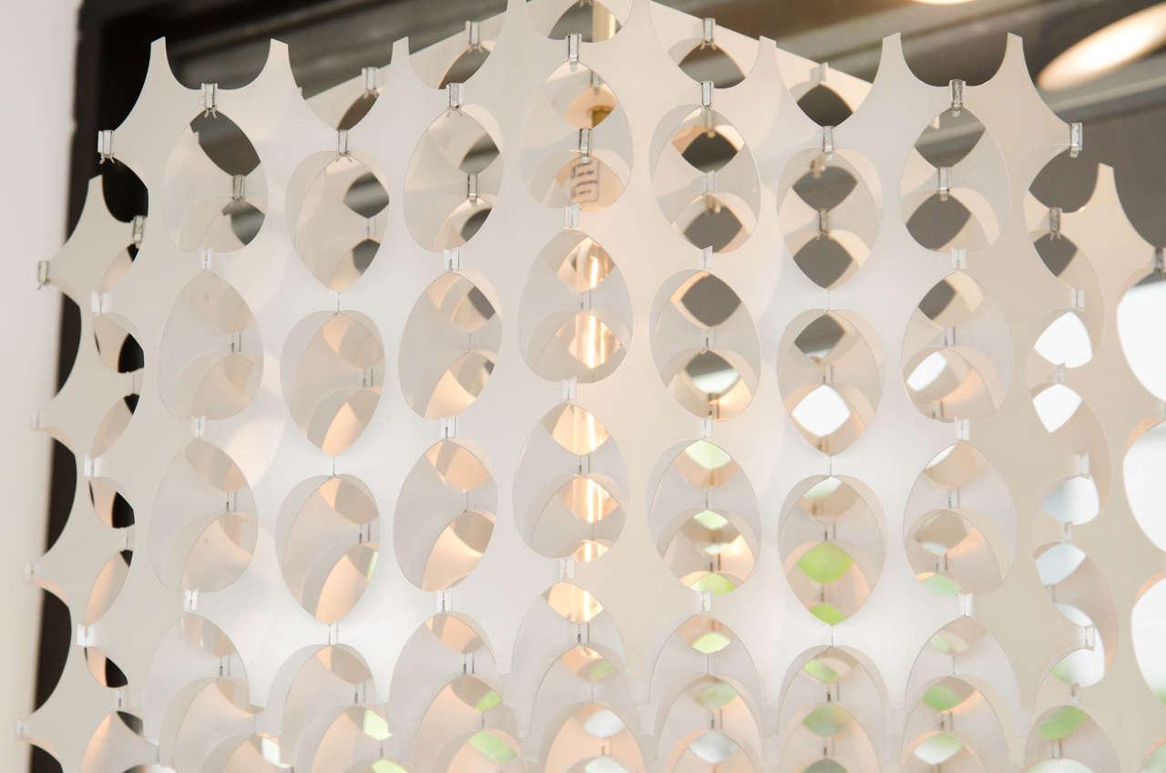 Geometric Pierced Aluminum Pendants by Mario Marenco for Artemide For Sale 2