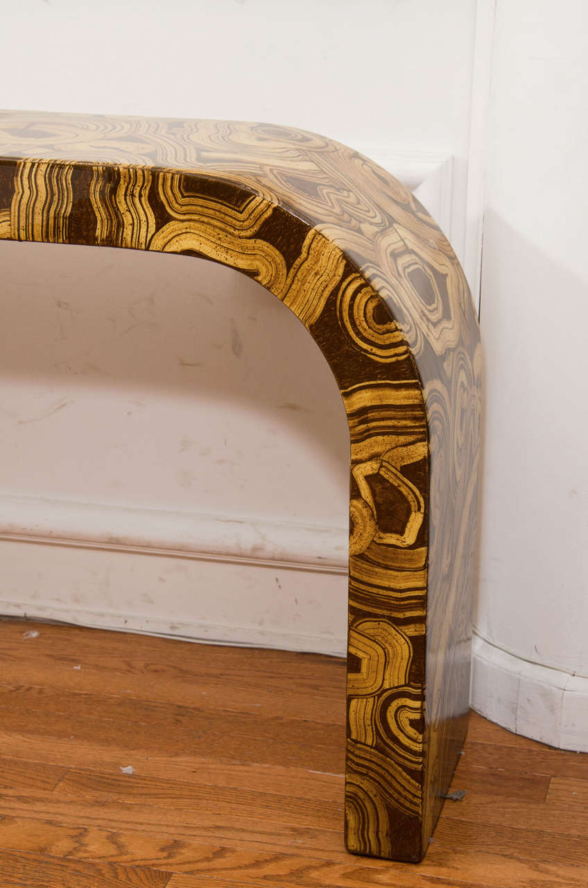 Italian Hand-Painted Waterfall Console Table