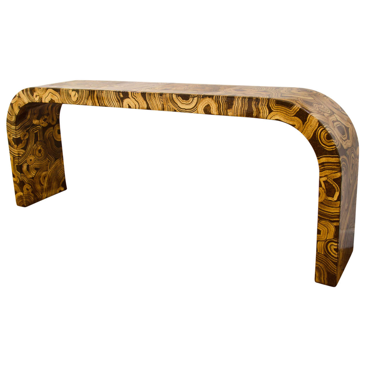 Hand-Painted Waterfall Console Table