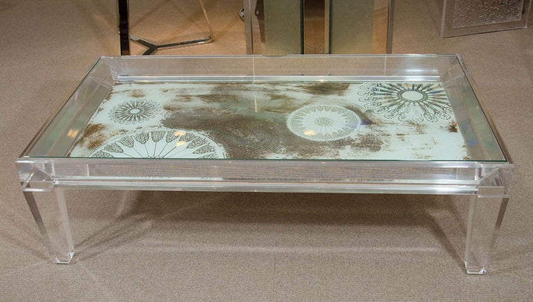 Mid-Century Lucite Coffee Table