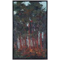 Abstract Forest Tree Oil Painting