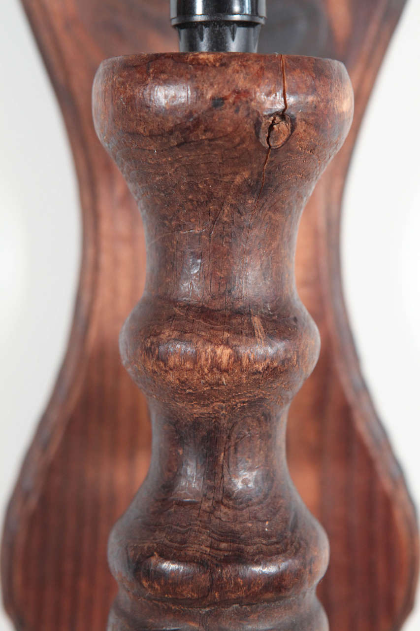 Rustic Carved Wooden Wall Sconces at 1stdibs