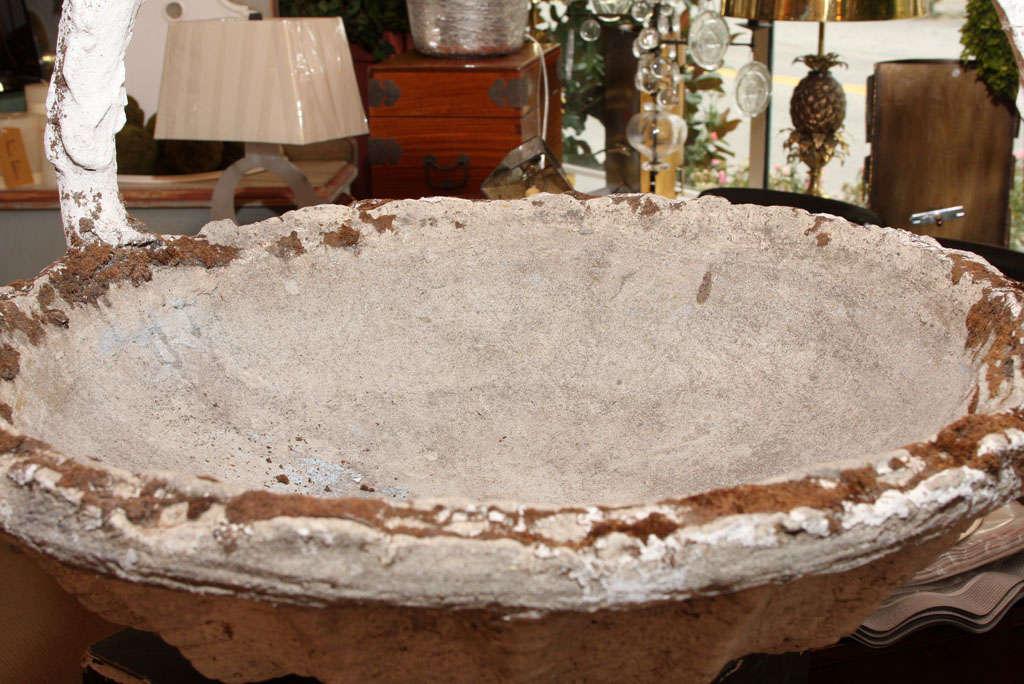 20th Century Cast Stone Basket Jardiniere For Sale