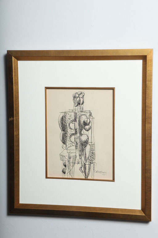American Abbott Pattison Ink on Paper For Sale