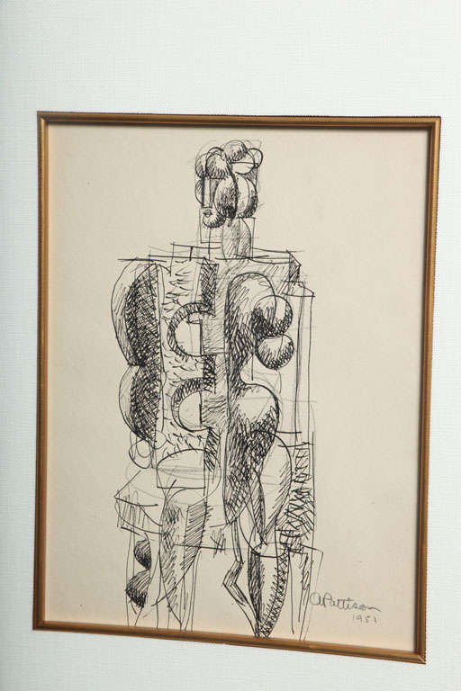 Abbott Pattison Ink on Paper In Excellent Condition For Sale In Hollywood, FL