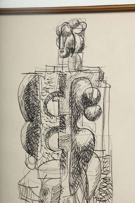 Abbott Pattison Ink on Paper For Sale 1