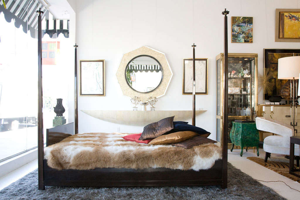 Queen Size Four Poster Bed By Tommi Parzinger At 1stdibs