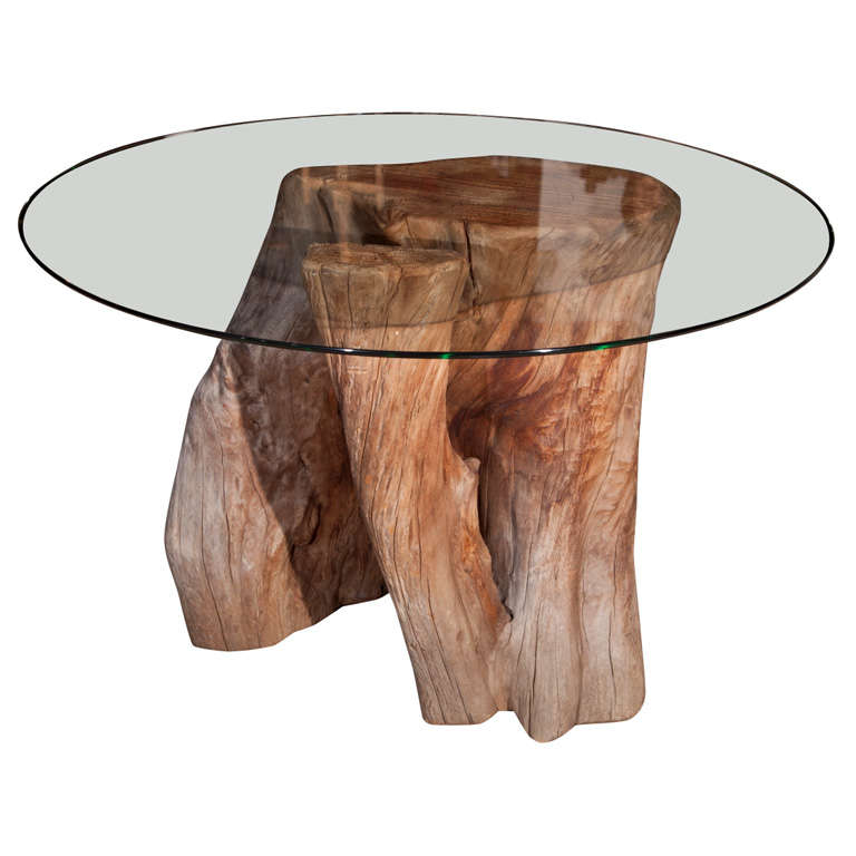 fabulous tree trunk base table at 1stdibs