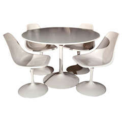 """""""Tulip"""" Style Dining Table with 4 chairs"""