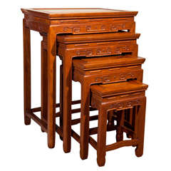 Set of Four (4) Chinese Nesting Tables