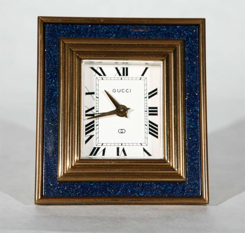 Vintage 8 Day Desk Clock by Gucci 2