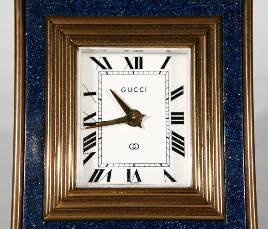 Vintage 8 Day Desk Clock by Gucci 4