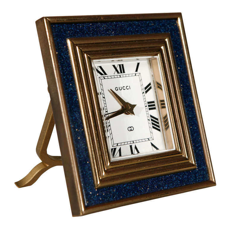 Vintage 8 Day Desk Clock by Gucci 1