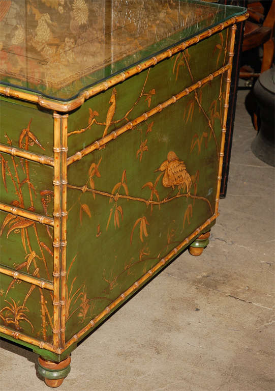 20th Century Freddie Fields Chinoiserie Desk For Sale