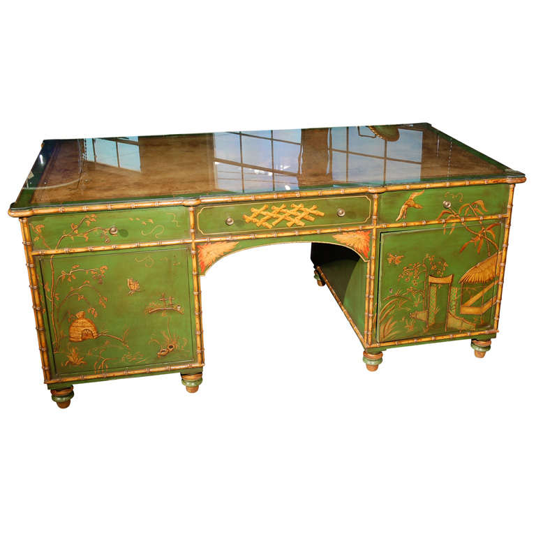 Freddie Fields Chinoiserie Desk For Sale