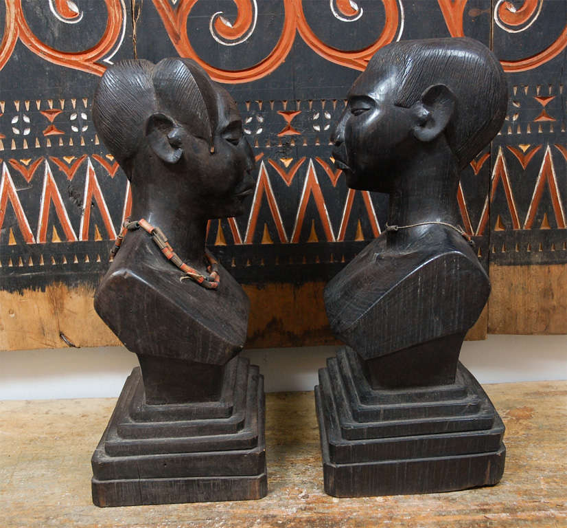 Pair of African Torsos In Good Condition For Sale In Los Angeles, CA