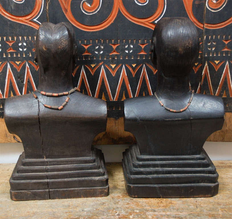 Late 20th Century Pair of African Torsos For Sale