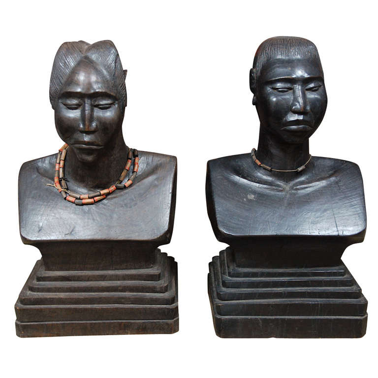 Pair of African Torsos For Sale