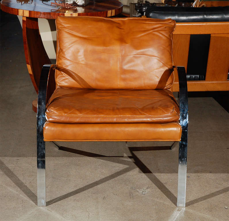 American Lounge Chair in the Style of Paul Tuttle For Sale