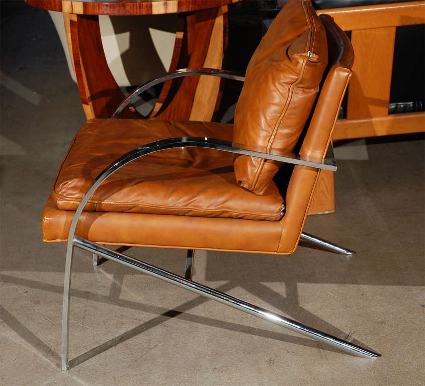 Lounge Chair in the Style of Paul Tuttle In Good Condition For Sale In Los Angeles, CA
