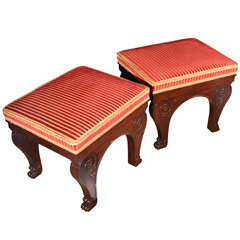 Pair of Russian Neoclassical Stools
