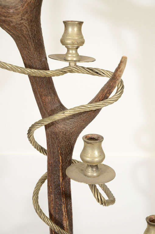 Antler Candelabra by Anthony Redmile In Good Condition For Sale In New York, NY