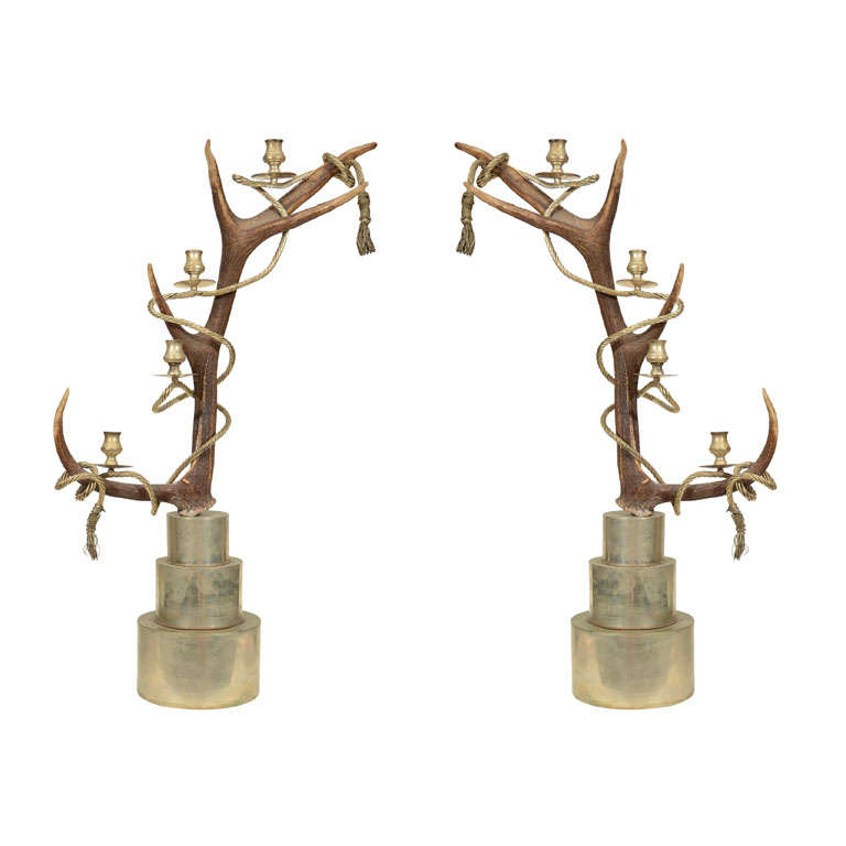 Antler Candelabra by Anthony Redmile For Sale