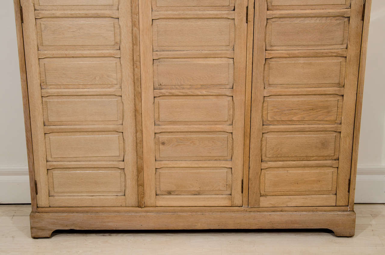 Bleached oak three door cabinet at 1stdibs for Bleached wood kitchen cabinets