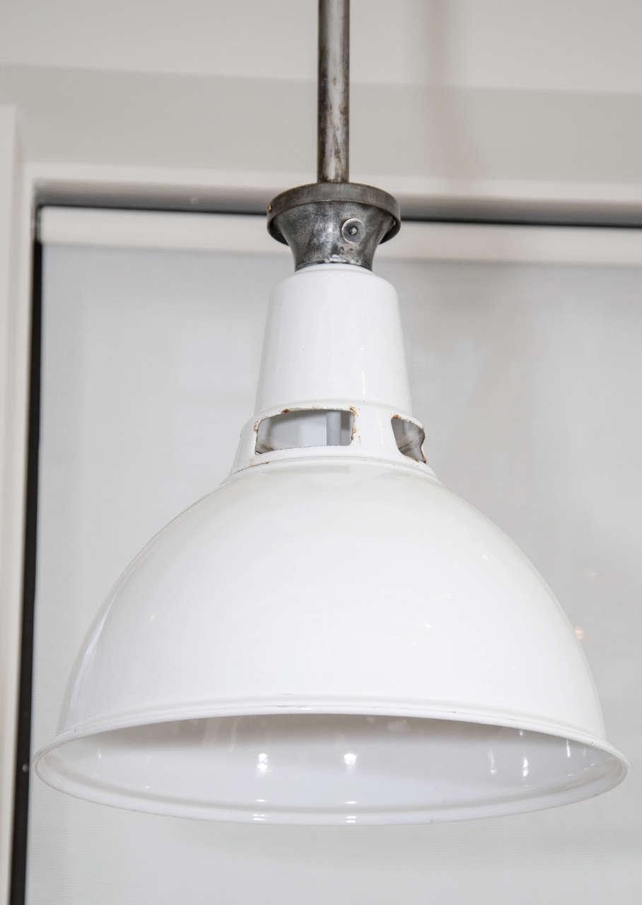 White Enamel Pendant Light Fixtures At 1stdibs