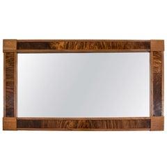 French Walnut and Mahogany Neoclassical Mirror