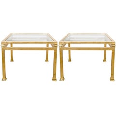 Pair of Gilt Iron Side Tables