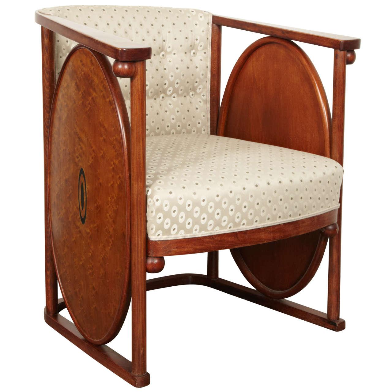 koloman moser and josef hoffmann art nouveau armchair at