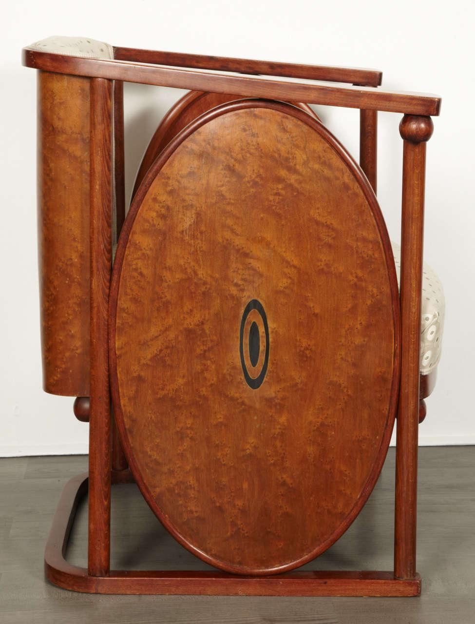 Beech Koloman Moser and Josef Hoffmann Art Nouveau Armchair For Sale