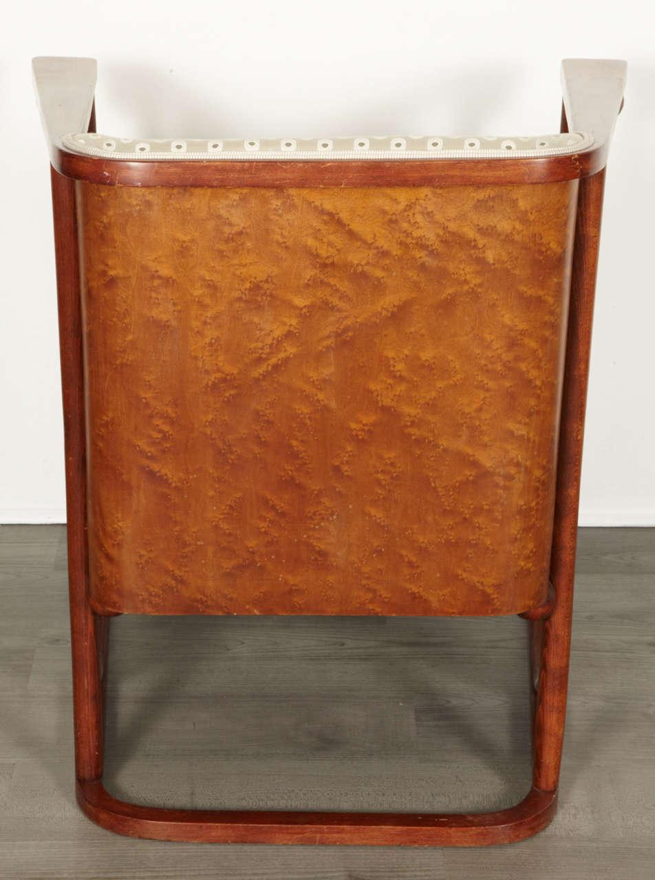 Koloman Moser and Josef Hoffmann Art Nouveau Armchair For Sale 2