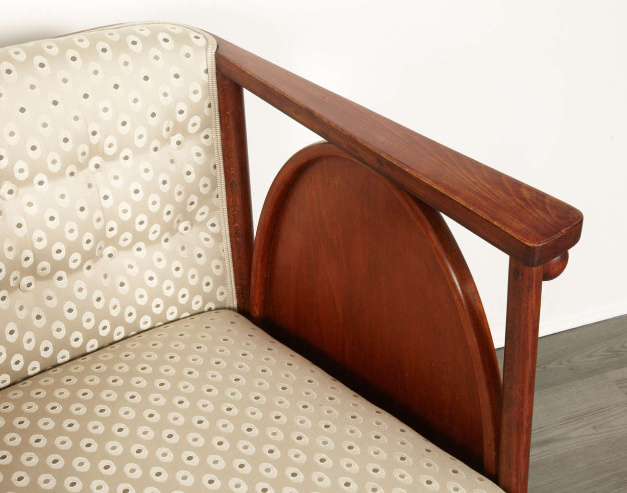 Koloman Moser and Josef Hoffmann Art Nouveau Armchair For Sale 3