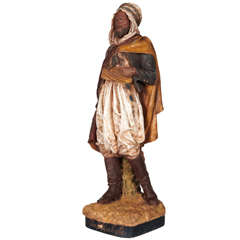 "Joseph Le Guluche Terracotta Figure ""Chef Kabyle"""