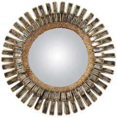 "1960 Line Vautrin Talosel Mirror, ""Gerbera"""