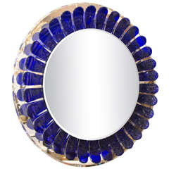 Large circular flower form mirror