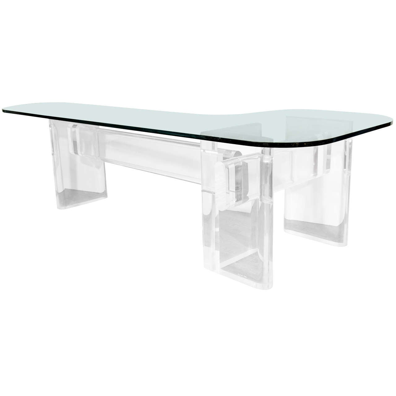 Custom Made quotlquot Shaped Lucite And Glass Desk By Karl  : X from www.1stdibs.com size 1280 x 1280 jpeg 34kB