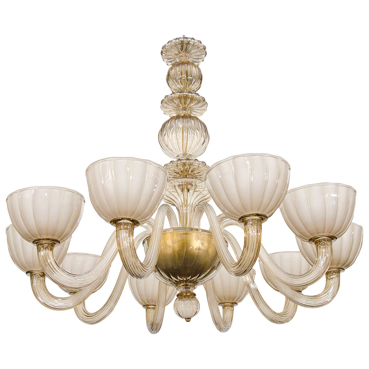 Amber Colored Venetian Glass Chandelier at 1stdibs