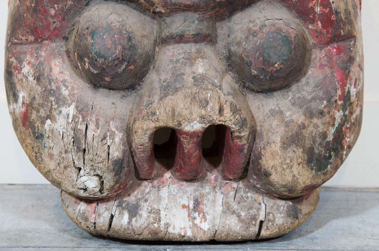 19th Century Chinese Mask In Good Condition For Sale In New York, NY