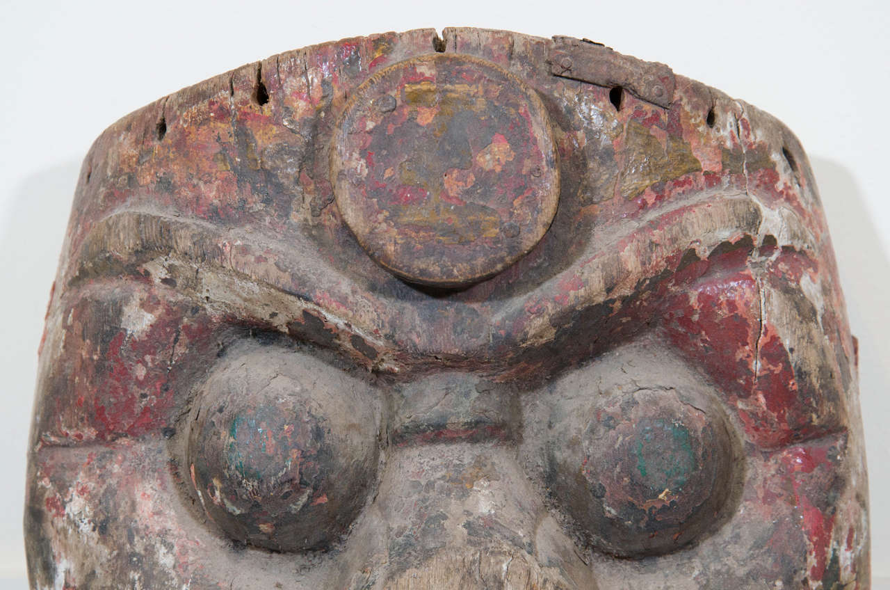 Pine 19th Century Chinese Mask For Sale