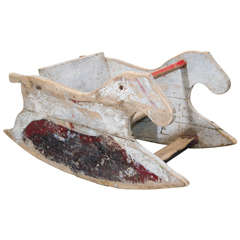 Primitive American Rocking Horse