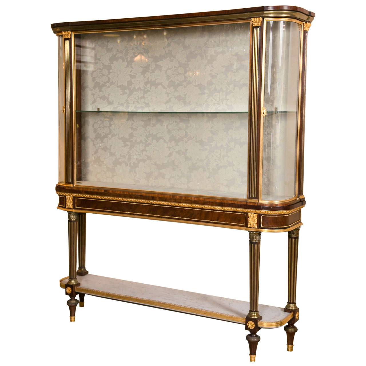 Maison jansen bronze mounted vitrine cabinet on stand for for Sideboard vitrine