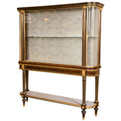 Maison Jansen Bronze-Mounted Vitrine Cabinet on Stand Magnificent Marble Top