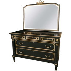 Ebonized Bronze-Mounted Chest /Commode / Dresser  Attributed to Jansen