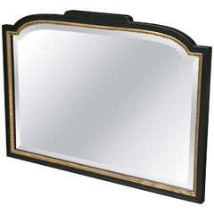 Ebonized and Bronze Framed Mirror Attributed to Maison Jansen